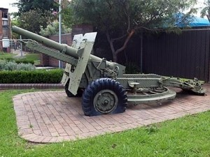 The gun had stood at Wentworthville Memorial Park for 40 years before it disappeared.