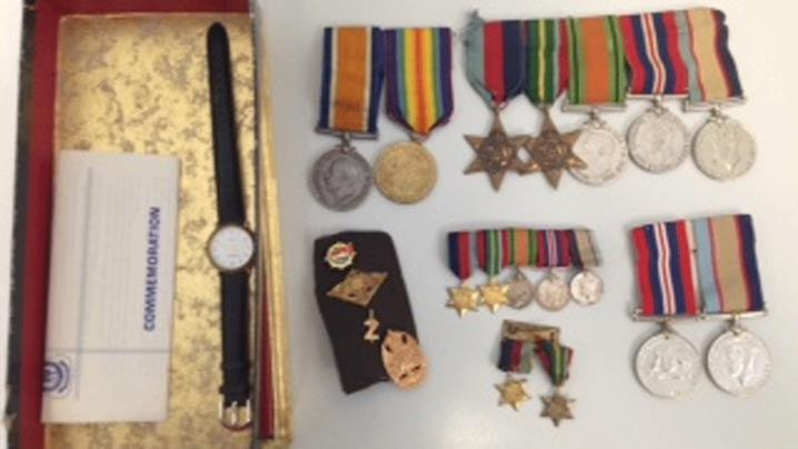 Stolen war medals to be returned to owners in time for ANZAC Day