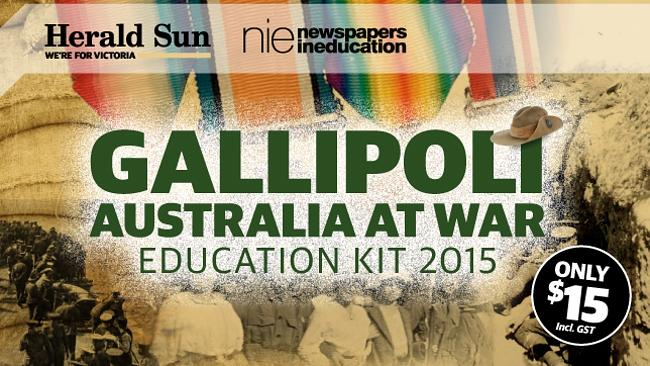 Gallipoli — Australia at War is the Herald Sun's new educational resource for teachers for 2015