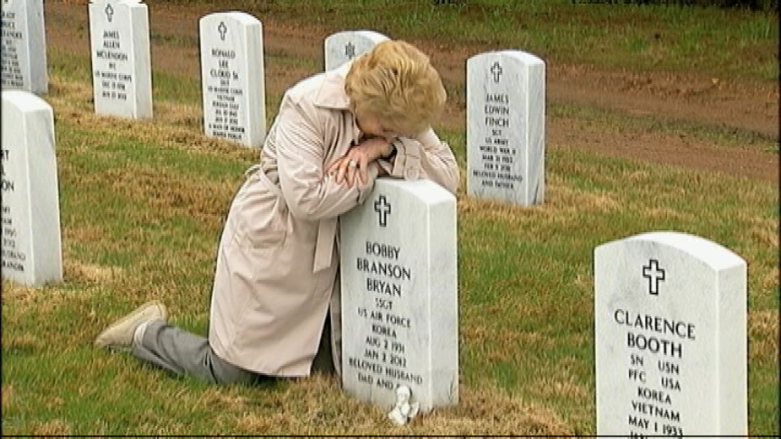 Families outraged after veteran cemetery turns into movie set