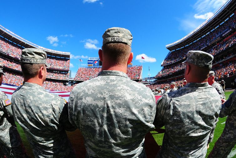 The National Guard has paid NFL teams millions to honor veterans