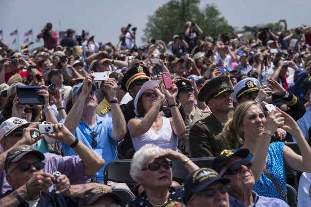 World War II veterans gather for 70th V-E Day celebration on the Mall