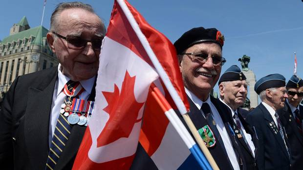 Veterans, O'Toole gather in Ottawa to commemorate 70th anniversary of VE Day