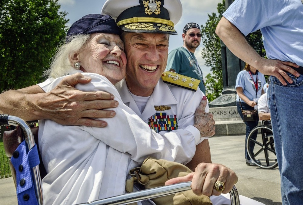 More than 400 gather at World War II Memorial to reflect on D-Day